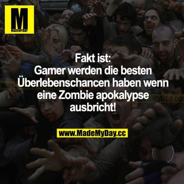Fakt ist: Gamer werden die besten Überlebenschancen haben, wenn eine Zombieapokalypse ausbricht!