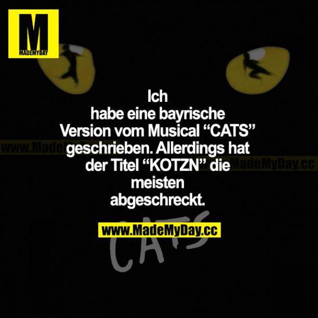 """Ich habe eine bayrische Version vom Musical """"CATS"""" geschrieben. Allerdings hat der Titel """"KOTZN"""" die meisten abgeschreckt."""