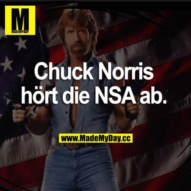 Chuck Norris hört die NSA ab.