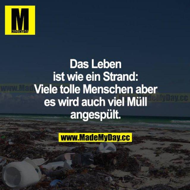 Das Leben ist wie ein Strand: Viele tolle Menschen, aber es wird auch viel Müll angespült.
