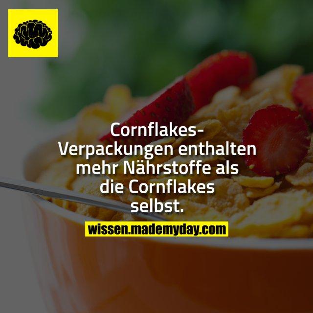 Cornflakes-Verpackungen enthalten mehr Nährstoffe als die Cornflakes selbst.