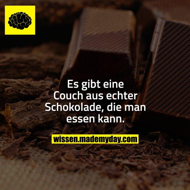 Es gibt eine Couch aus echter Schokolade, die man essen kann.