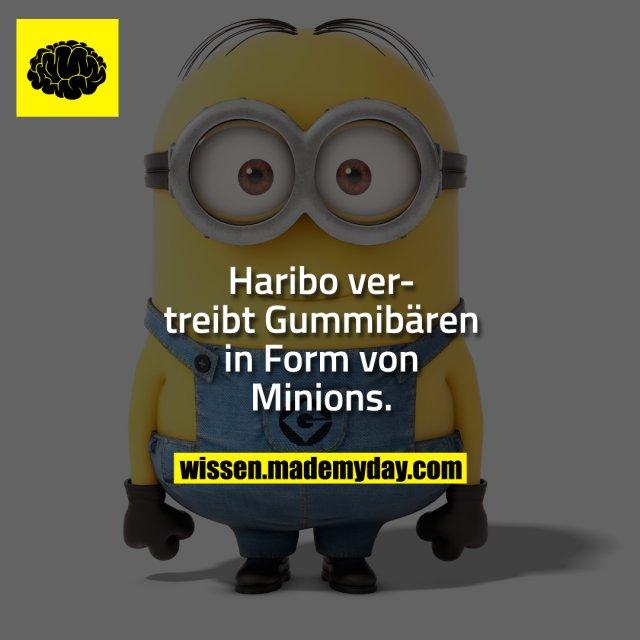 Haribo vertreibt Gummibären in Form von Minions.