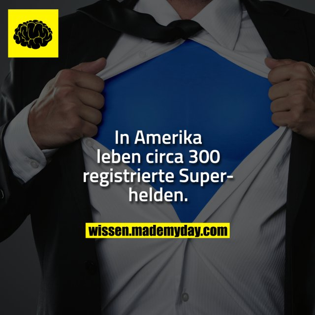 In Amerika leben circa 300 registrierte Superhelden.