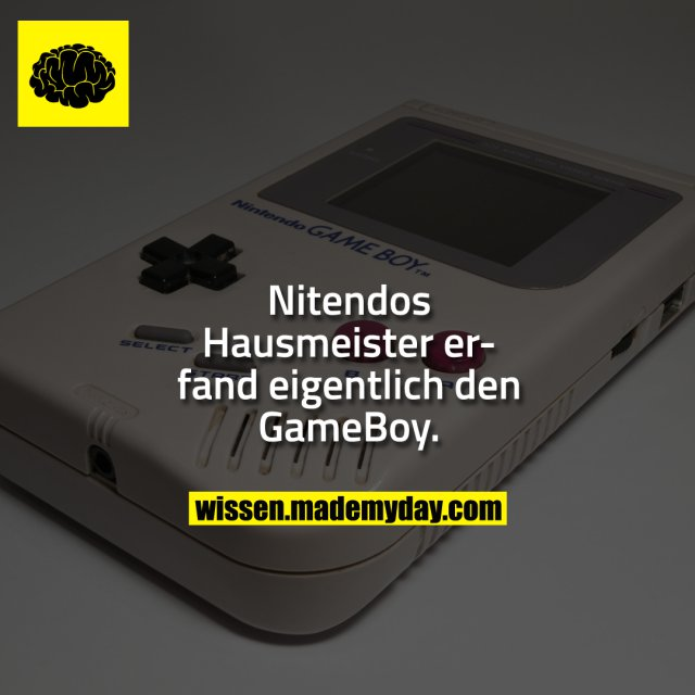 Nitendos Hausmeister erfand eigentlich den GameBoy.