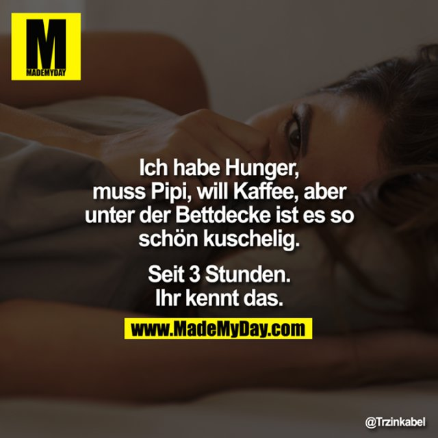 Ich habe Hunger, muss Pipi, ... - Made My Day