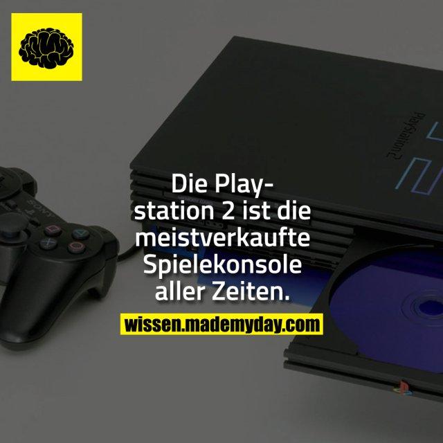 Die Playstation 2 ist die meistverkaufte Spielekonsole aller Zeiten.