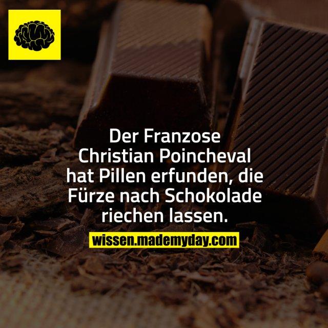 Der Franzose Christian Poincheval hat Pillen erfunden, die Fürze nach Schokolade riechen lassen.