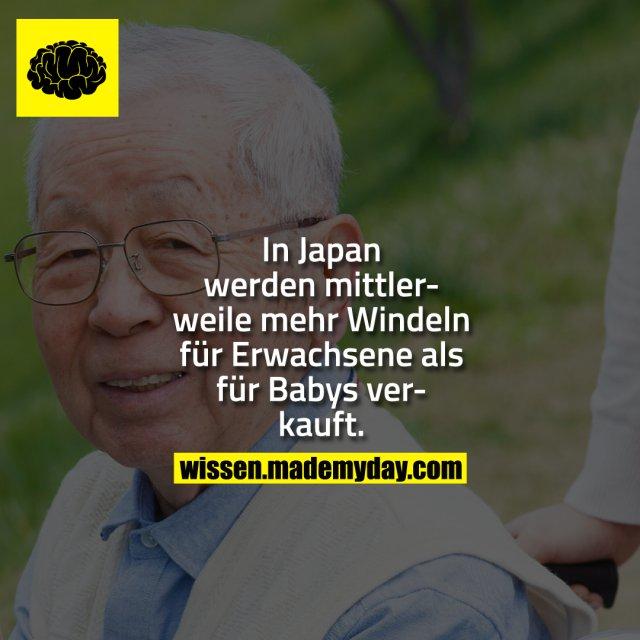 In Japan werden mittlerweile mehr Windeln für Erwachsene als für Babys verkauft.