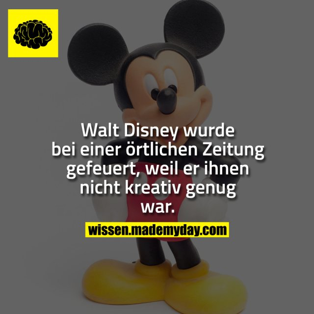 walt disney wurde bei einer made my day. Black Bedroom Furniture Sets. Home Design Ideas