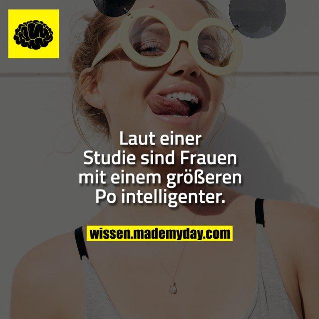 Laut einer Studie sind Frauen mit einem größeren Po intelligenter.