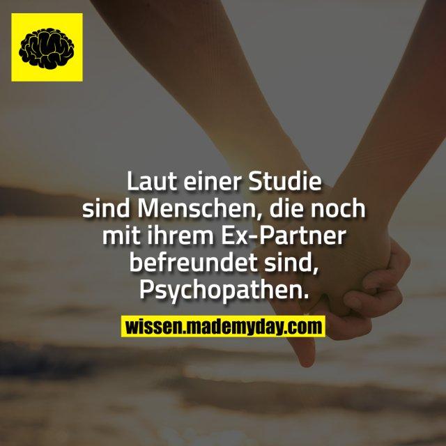 Laut einer Studie sind Menschen, die noch mit ihrem Ex-Partner befreundet sind, Psychopathen.