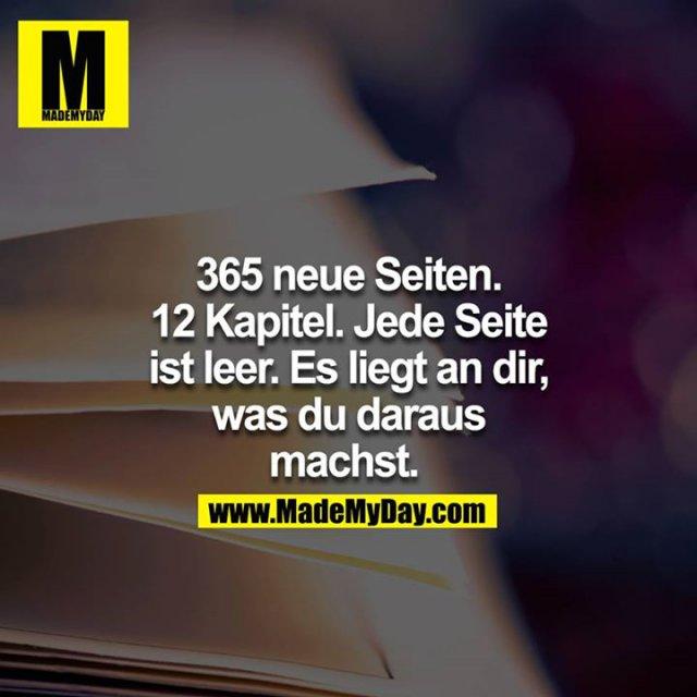 365 neue Seiten. 12 Kapitel. Jede Seite ist leer. Es liegt an dir, was du daraus machst.