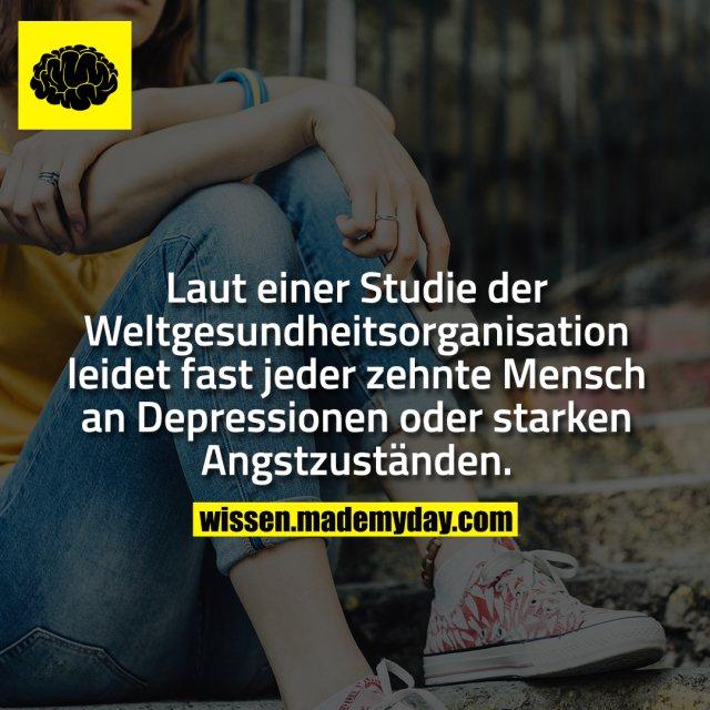 Laut einer Studie der Weltgesundheitsorganisation leidet fast jeder zehnte Mensch an Depressionen oder starken Angstzuständen.