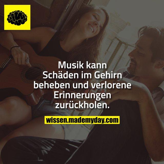 Musik kann Schäden im Gehirn beheben und verlorene Erinnerungen zurückholen.