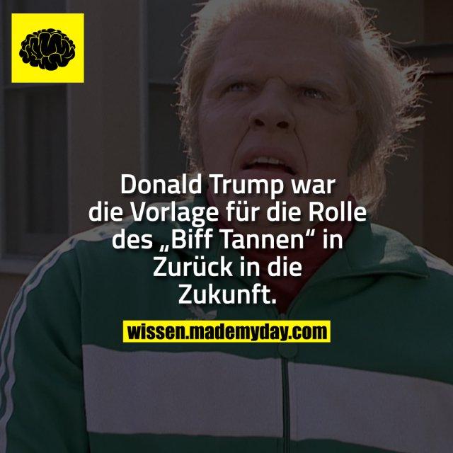 """Donald Trump war die Vorlage für die Rolle des """"Biff Tannen"""" in Zurück in die Zukunft."""
