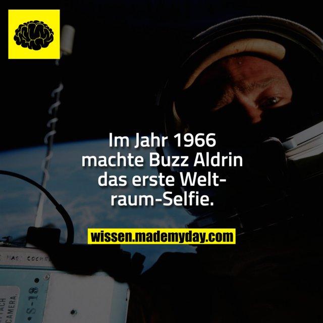 Im Jahr 1966 machte Buzz Aldrin das erste Weltraum-Selfie.