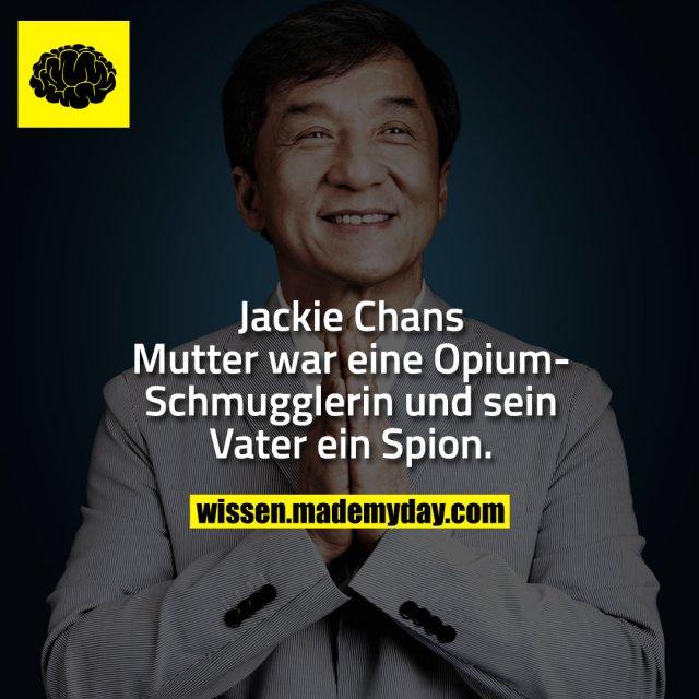 Jackie Chans Mutter war eine Opium-Schmugglerin und sein Vater ein Spion.