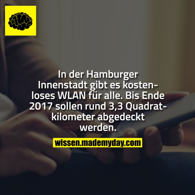 In der Hamburger Innenstadt gibt es kostenloses WLAN für alle. Bis Ende 2017 sollen rund 3,3 Quadratkilometer abgedeckt werden.