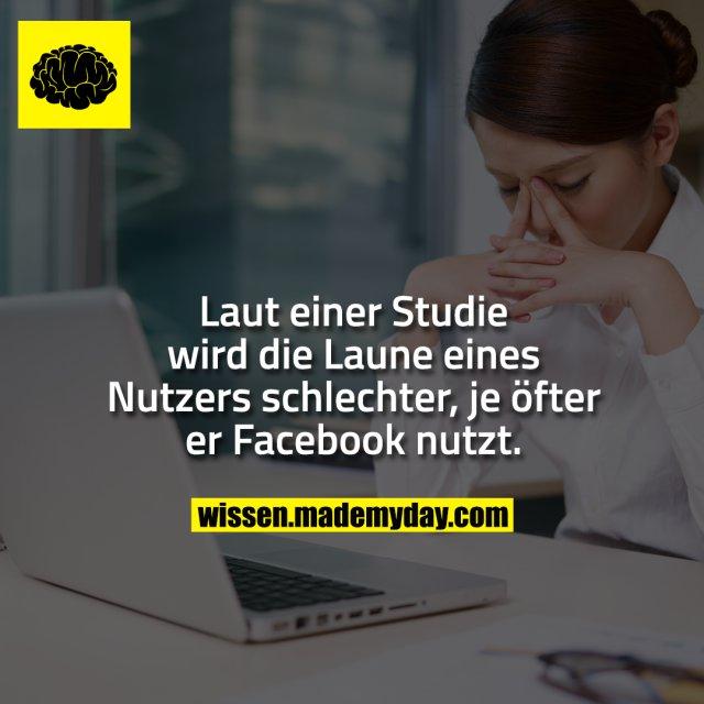 Laut einer Studie wird die Laune eines Nutzers schlechter, je öfter er Facebook nutzt.