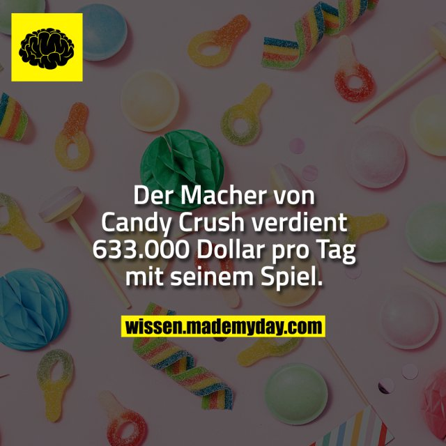 Der Macher von Candy Crush verdient 633.000 Dollar pro Tag mit seinem Spiel.