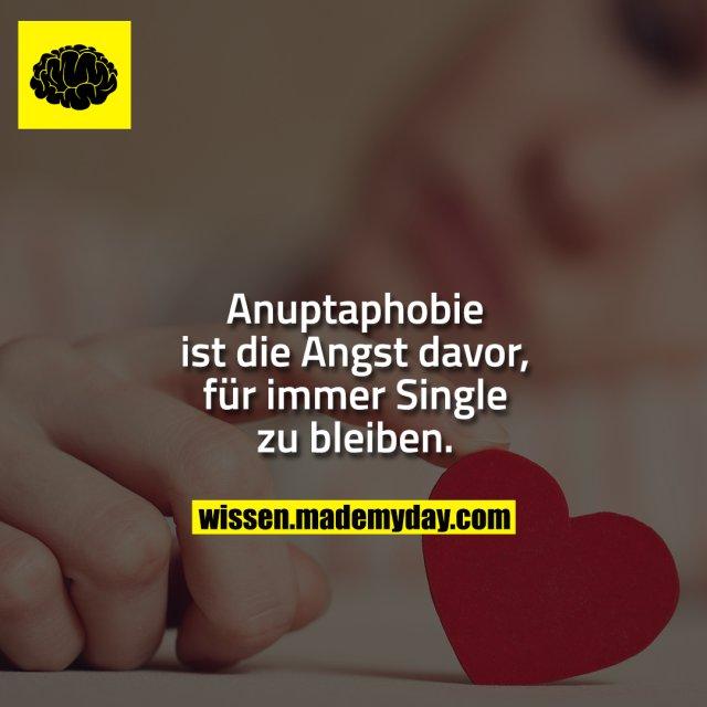 Anuptaphobie ist die Angst davor, für immer Single zu bleiben.