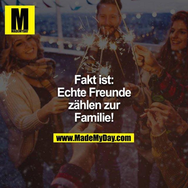Fakt ist: Echte Freunde zählen zur Familie!